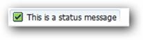 status-message
