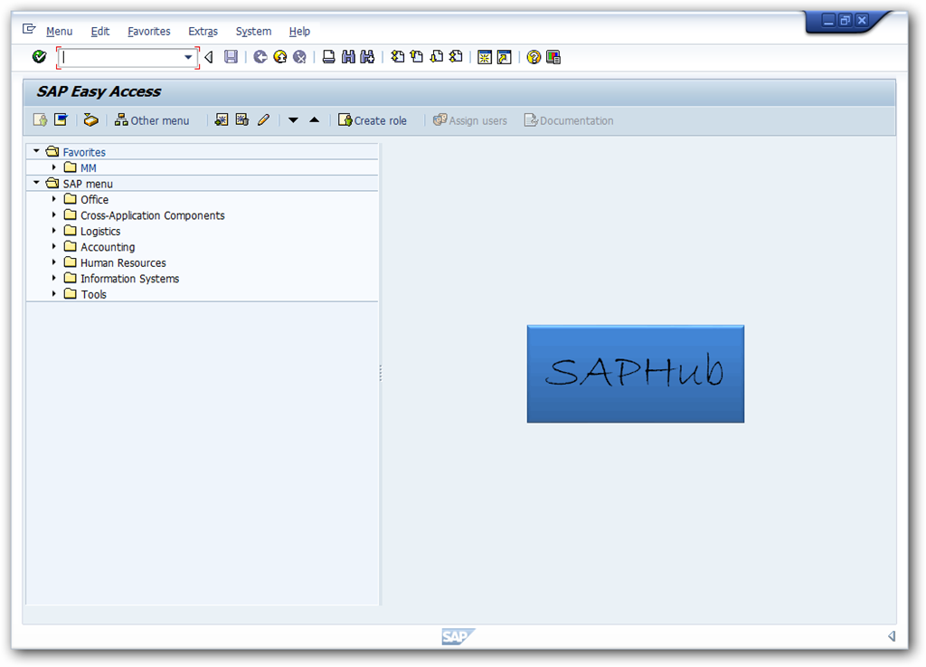 how to change logo in sap easy access saphub