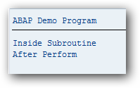 ABAP Subroutine