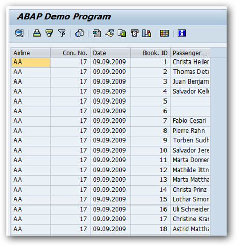 Create Simple ABAP ALV