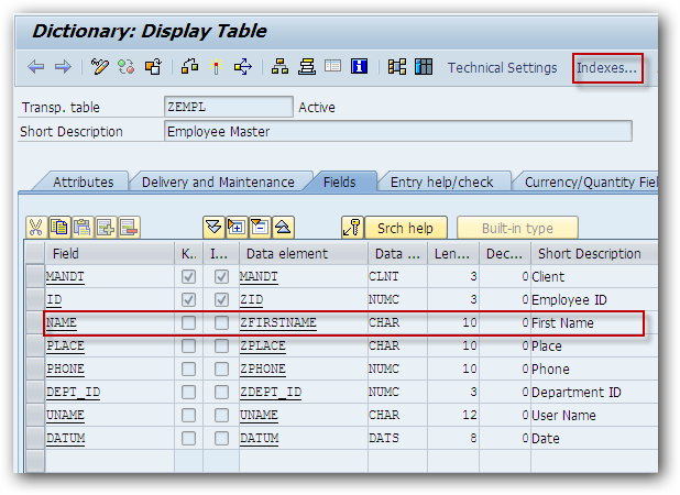 How to Create Secondary Index on SAP Table? - SAPHub