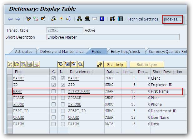 How to Create Secondary Index on SAP Table? - SAPHub