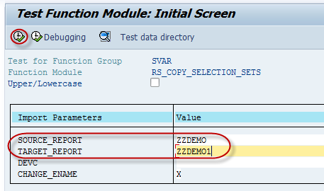 RS_COPY_SELECTION_SETS : Function Module to Copy the ABAP Report Variants