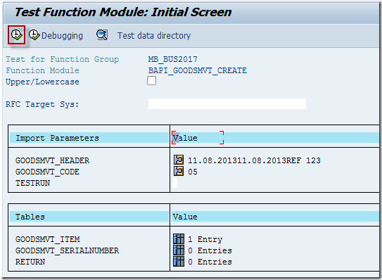 Test BAPI in Function Builder (SE37) Using Test Sequences