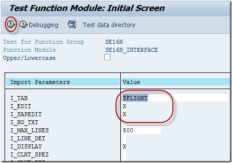 FM SE16N_INTERFACE to Update SAP Database Table - SAPHub